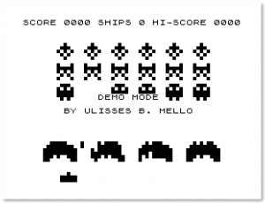 Screenshot do ZINVADERS para ZX-81